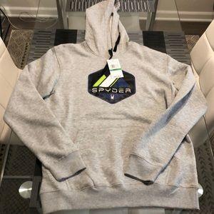 New Men's Spyder Pullover hoodie Large